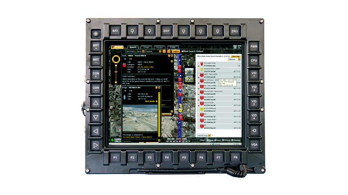 Smart Display with Tactical Information on Screen